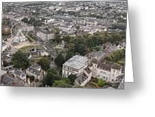 Aerial Chartres Greeting Card