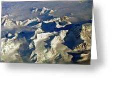Aerial Ice Fields Greeting Card