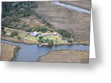 Aerial Jekyll Island Area Greeting Card