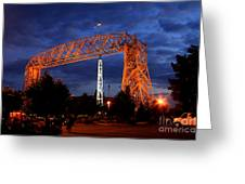 Aerial Lift Bridge Greeting Card