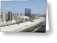 Aerial Of Downtown Atlantic City Greeting Card
