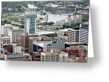 Aerial Of Downtown Wichita Greeting Card