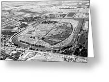 Aerial Of Indy 500 Greeting Card