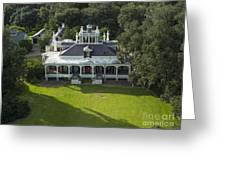 Aerial Of Jefferson Mansion Greeting Card