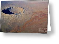 Aerial Of Meteor Crater Greeting Card