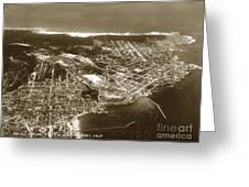 Aerial  Of Monterey Calif. Oct. 25 1934 Greeting Card