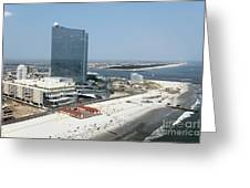 Aerial Of Revel On The Oceanfront Greeting Card