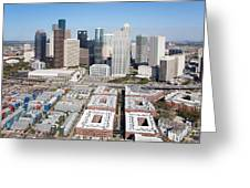 Aerial Of The Houston Skyline Greeting Card
