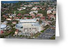 Aerial Of Tiger Stadium Greeting Card
