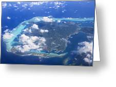 Aerial Over Atoll Greeting Card