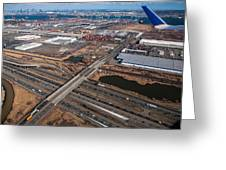 Aerial Over Newark Greeting Card