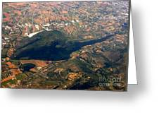 Aerial Photography - Hill Like A Big Mouse  Greeting Card
