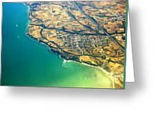 Aerial Photography - Italy Coast Greeting Card