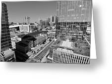 Aerial Photography Downtown Nashville Greeting Card by Dan Sproul