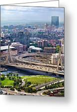 Aerial Shot Of Boston Greeting Card