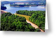 Aerial Summersville Dam And Lake Greeting Card