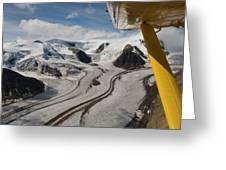 Aerial View From Bush Plane Greeting Card