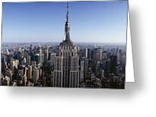 Aerial View Of A Cityscape, Empire Greeting Card