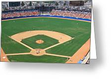 Aerial View Of A Stadium, Dodger Greeting Card