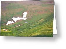 Aerial View Of Alaskan Landscape Greeting Card