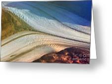 Aerial  View Of An Antarctica Glacier Flow Greeting Card