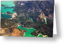 Aerial View Of Andalusia. Spain Greeting Card