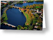 Aerial View Of Charles River With Views Greeting Card