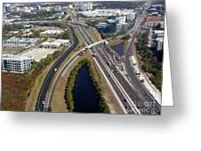 Aerial View Of City Of Tampa Greeting Card