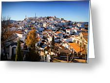 Aerial View Of Comares Village, One Greeting Card