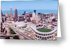 Aerial View Of Jacobs Field, Cleveland Greeting Card