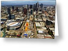 Aerial View Of Los Angeles Greeting Card