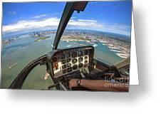 Aerial View Of Manhattan Greeting Card