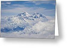 Aerial View Of Mount Everest, Nepal, 2007 Greeting Card