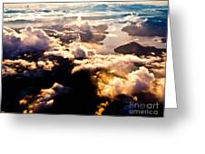 Aerial View Of Pacific Coast Of Bc Canada Greeting Card