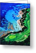 Aerial View Of Pebble Beach Greeting Card