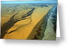 Aerial View Of Skelton Coast, Namib Greeting Card