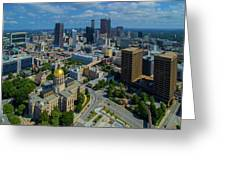 Aerial View Of Skyline And Georgia Greeting Card