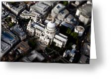Aerial View Of St Pauls Cathedral Greeting Card