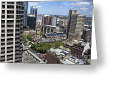 Aerial View Of Sydney City Hall Greeting Card