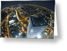 Aerial View Of Tel Aviv Greeting Card