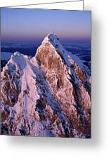 Aerial View Of The Grand Teton Greeting Card