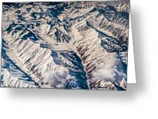 Aerial View Of The Mountains Greeting Card