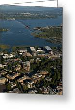 Aerial View Of The New Husky Stadium Greeting Card