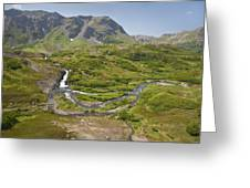 Aerial View Of Waterfall And River In Greeting Card