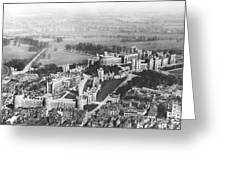 Aerial View Of Windsor Castle. Greeting Card
