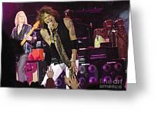 Aerosmith - Steven Tyler - Dsc00072 Greeting Card