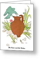 Aesop: Crow & Pitcher Greeting Card