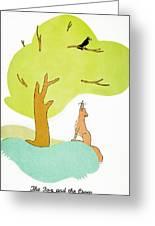 Aesop: Fox & Crow Greeting Card