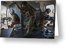 Afghan Air Force Members Greeting Card