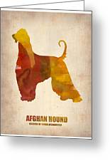 Afghan Hound Poster Greeting Card by Naxart Studio